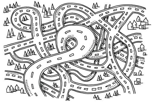 White clipart road. Map black and letters