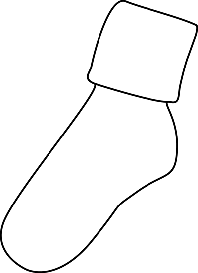Sock clip one. Art images black and