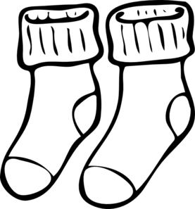 White clipart socks. Free black and