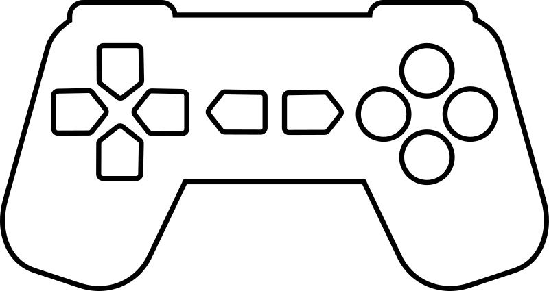 White controller png. Clipart game outline medium