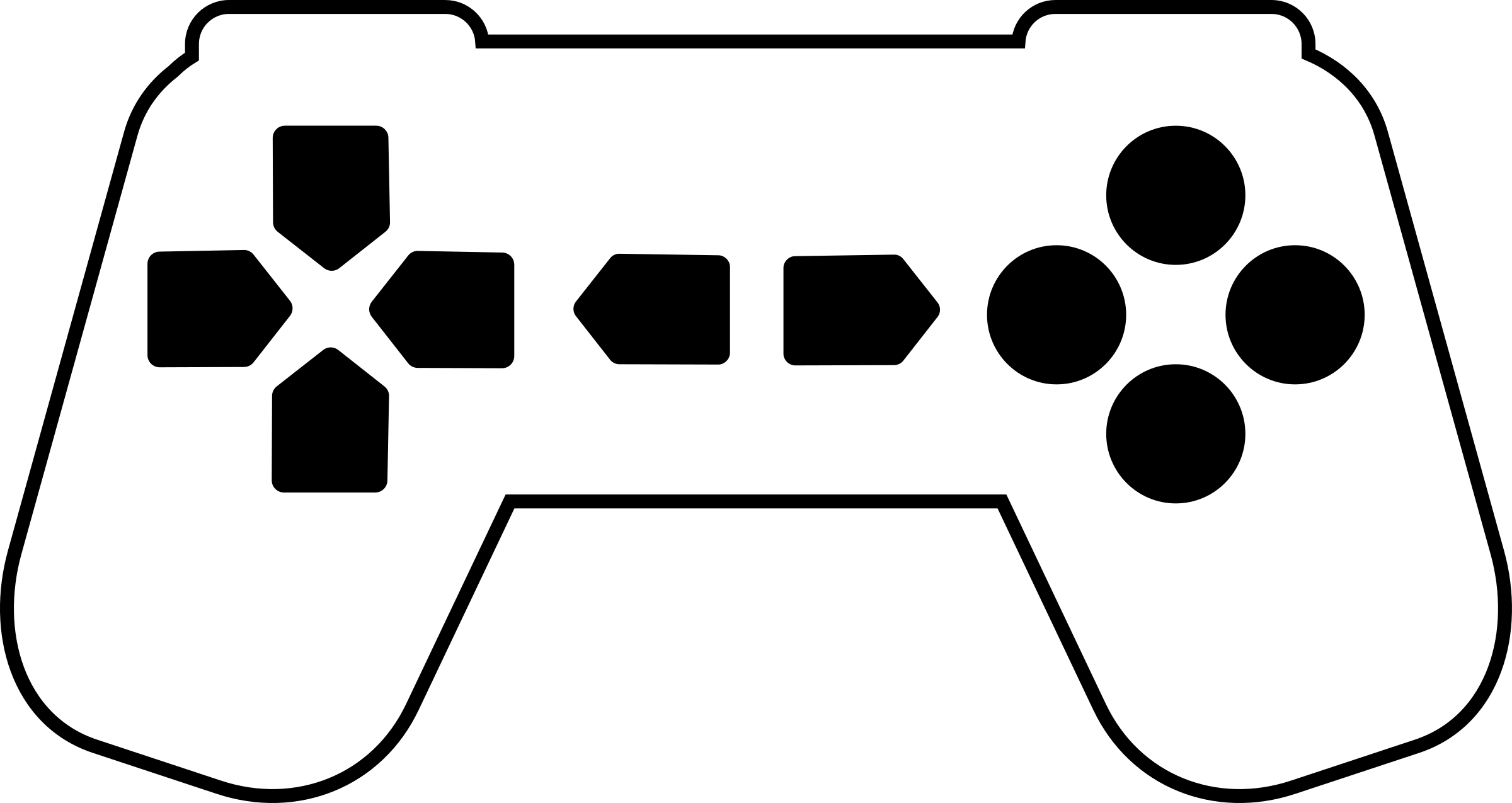 White controller png. Game outline icons free