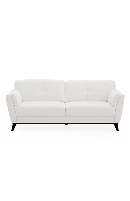 White couch png. Sofa with genuine leather