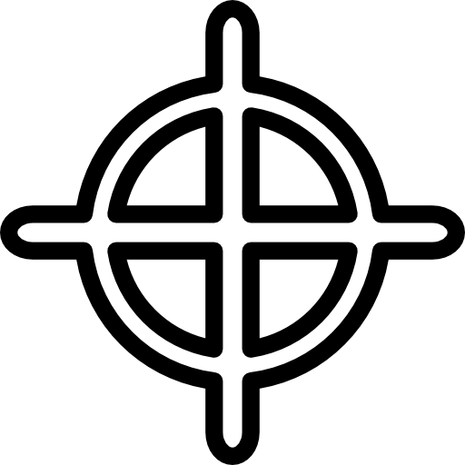 White crosshairs png. Crosshair outline free interface