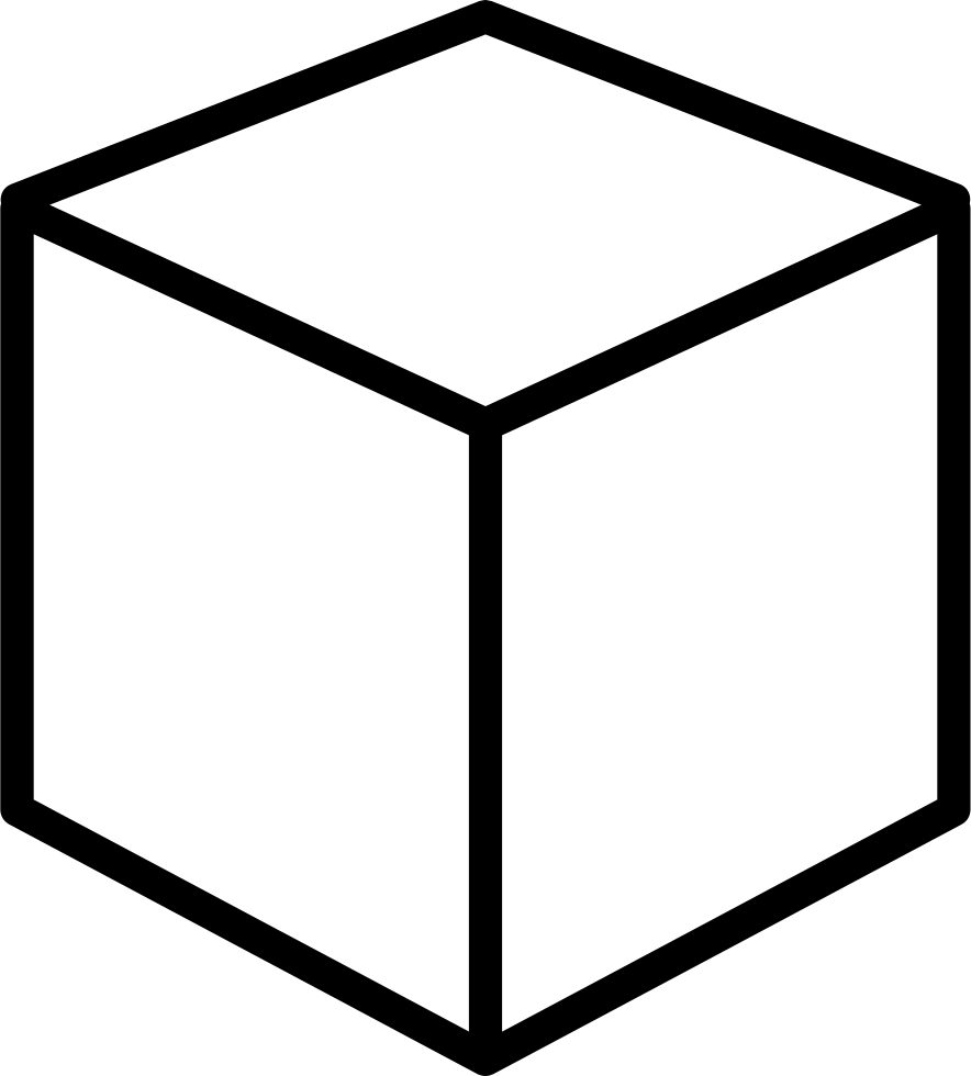 cube outline png