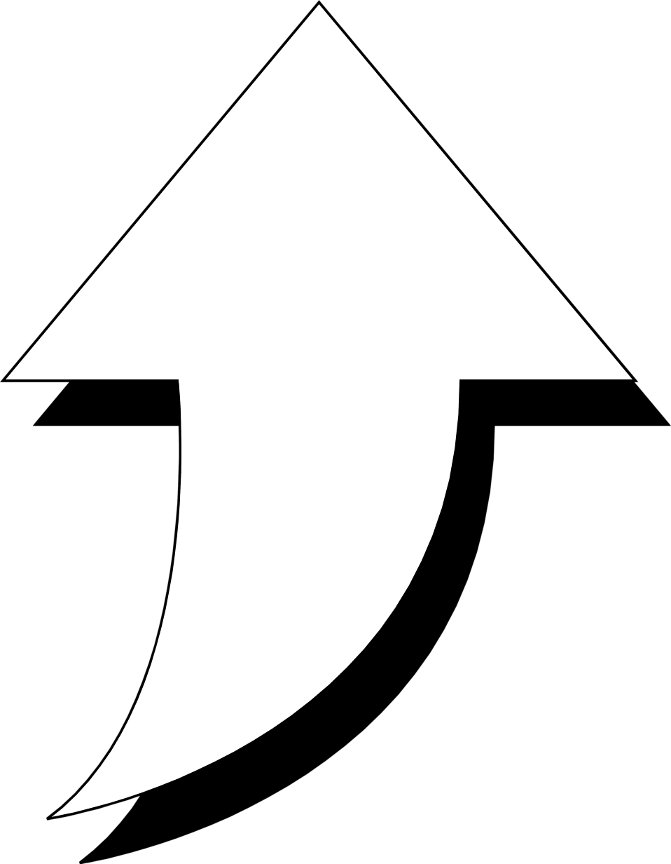 Up vector background. Top white curved arrow