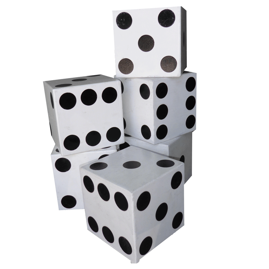 White dice png. Giant seven productions