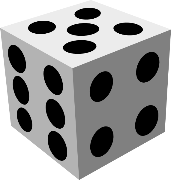 White dice png. Small medium large free