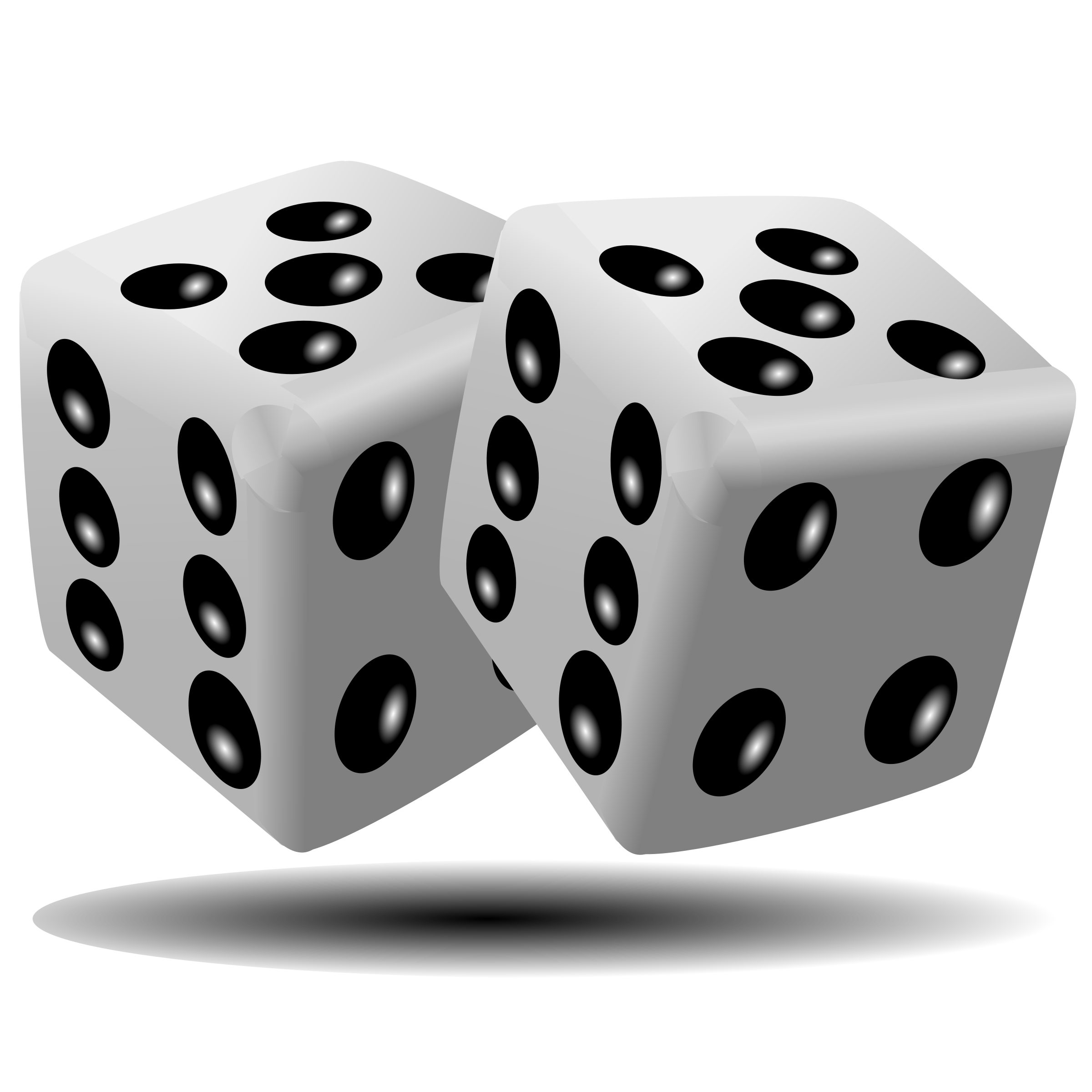 White dice png. Black and transparent images