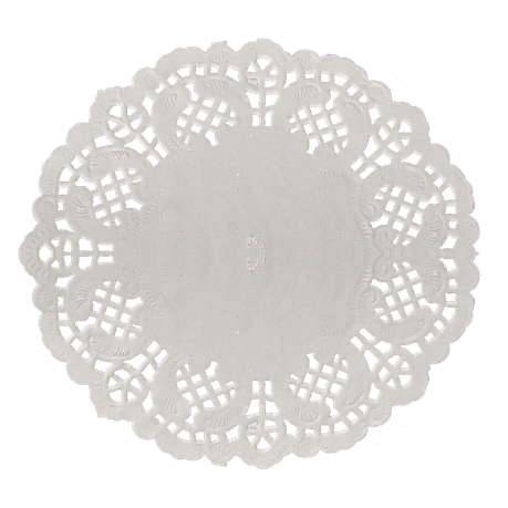 Doily transparent white. Round paper large buy