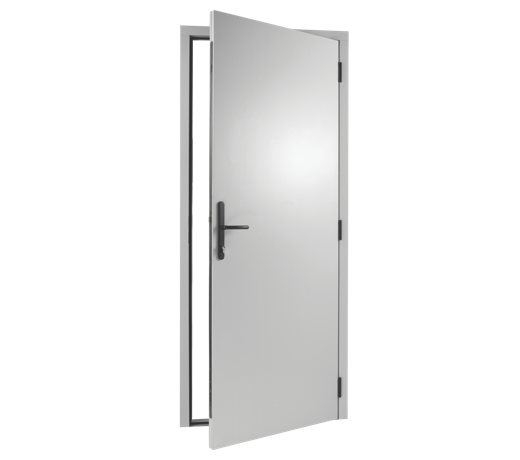 White door png. Side hinged personnel pedestrian