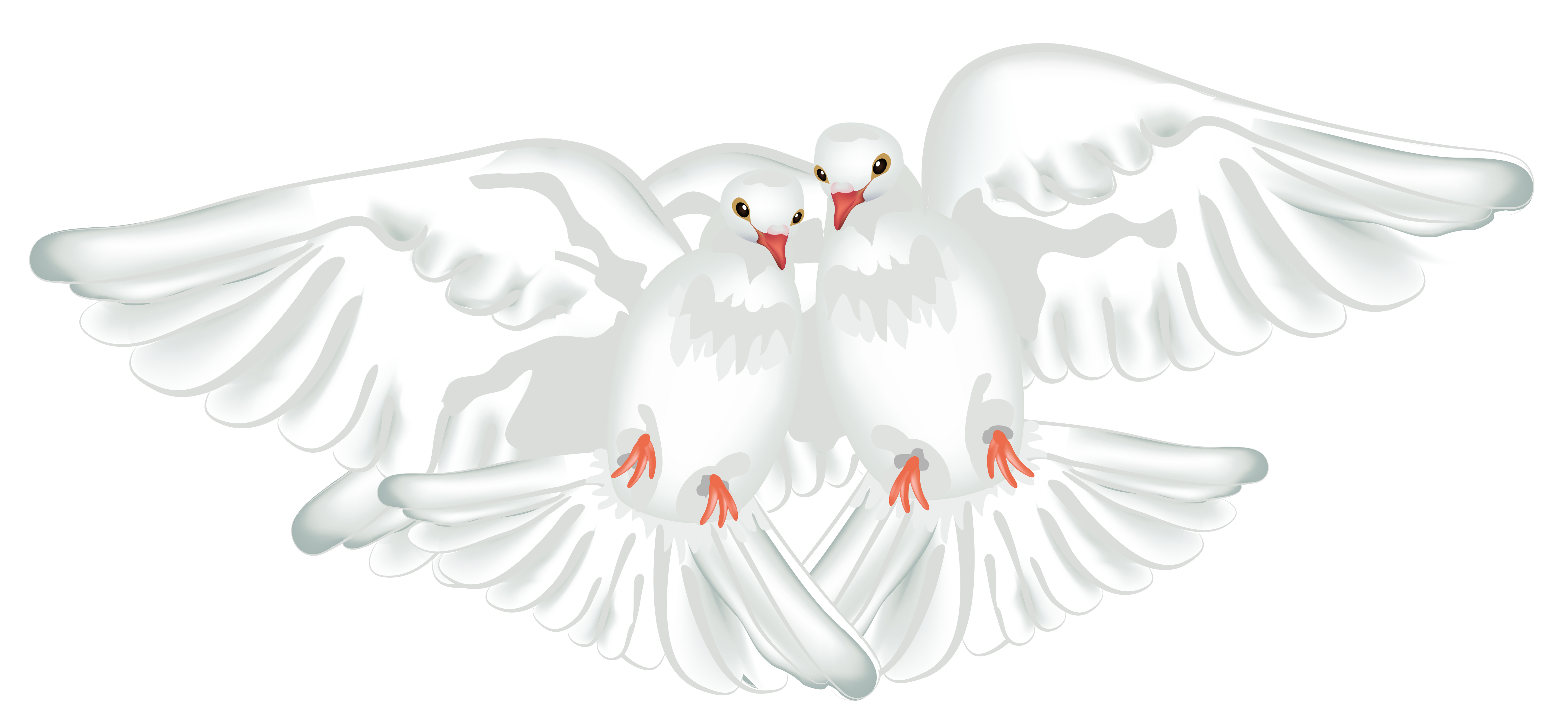White doves png. Transparent clipart gallery yopriceville