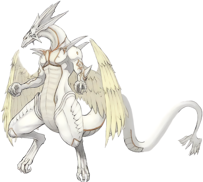 white dragon png #76474898