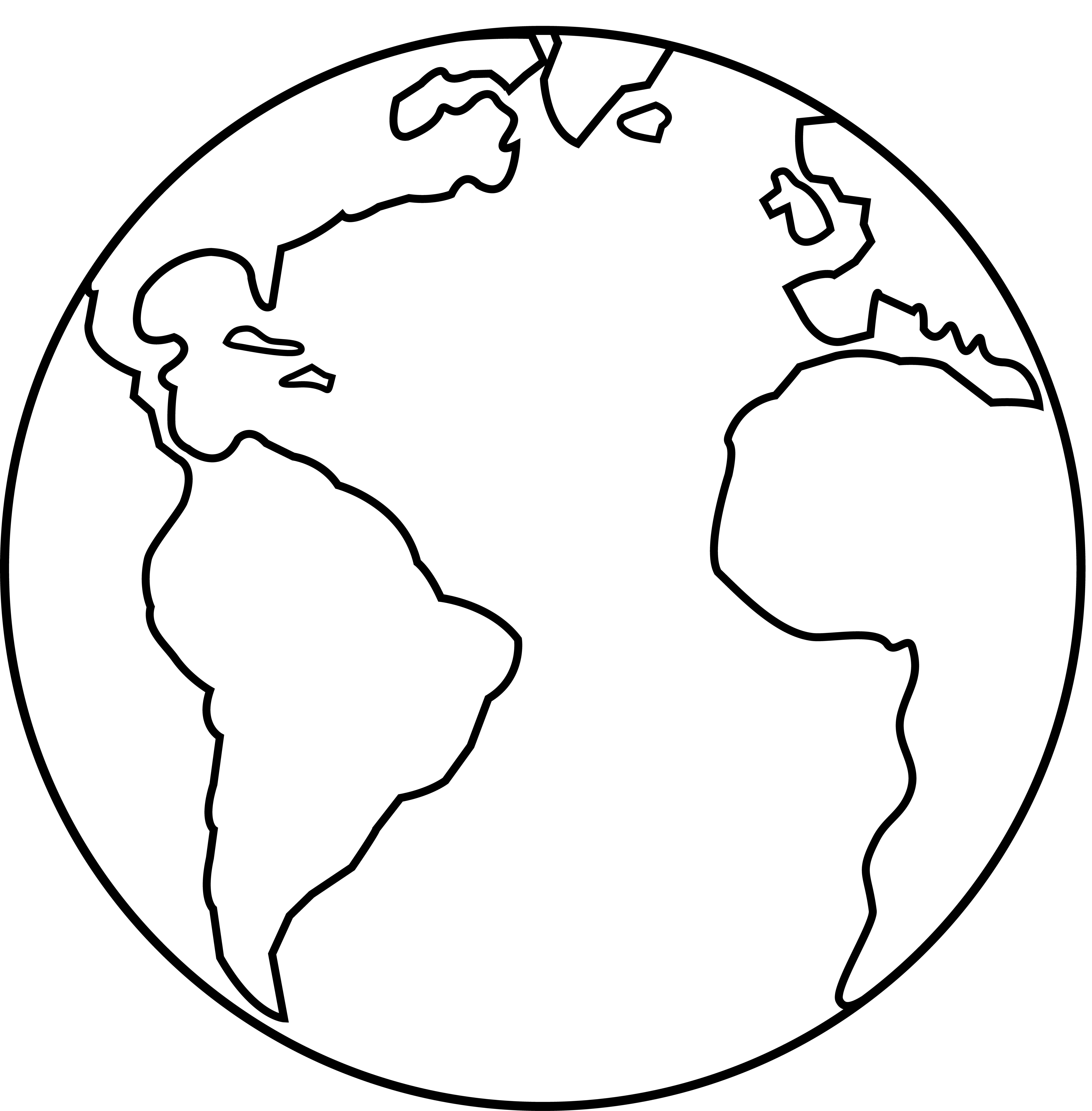 Earth clip drawing. Simple globe at getdrawings