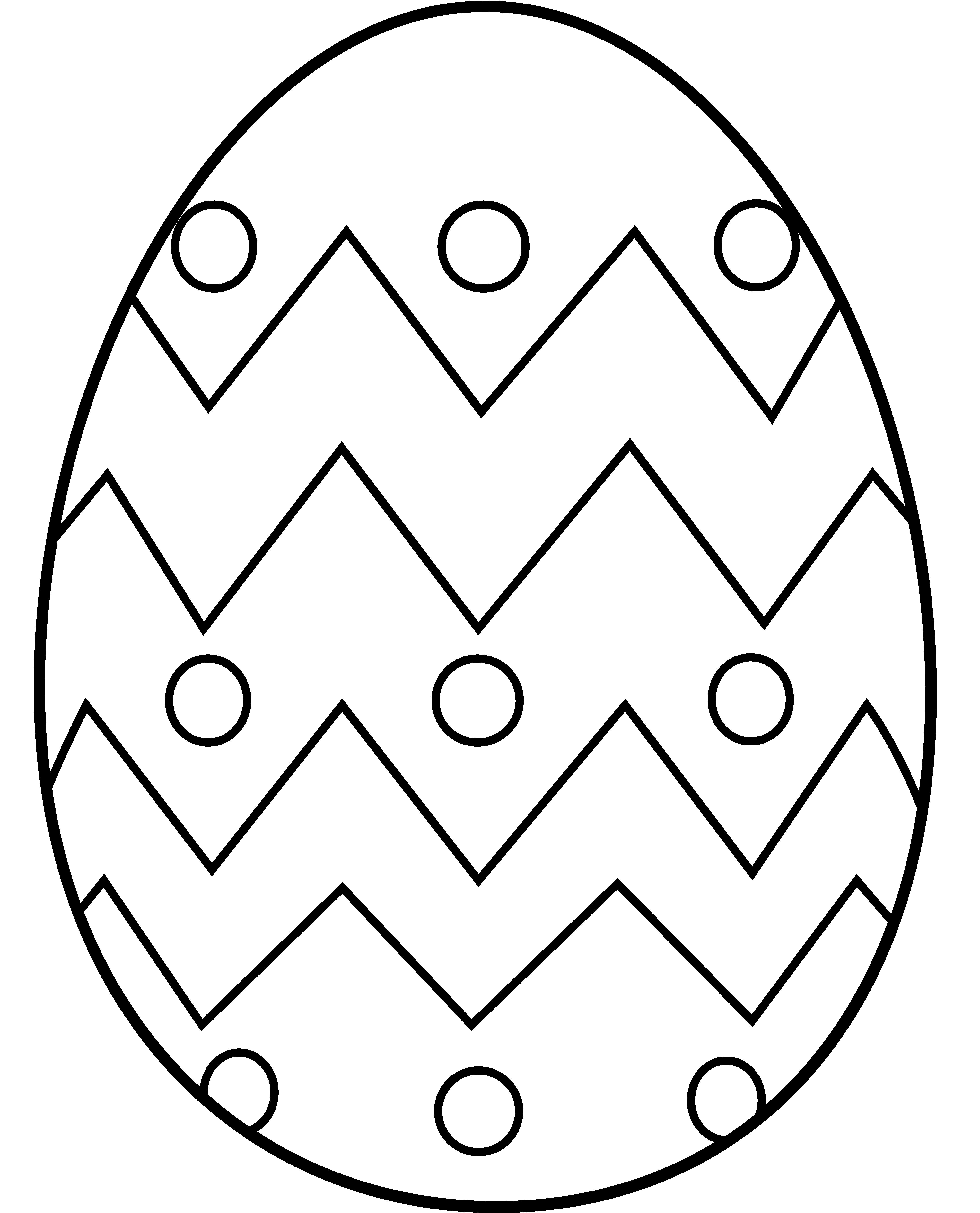 Drawing egg printable. Easter to color in