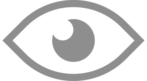 White eye png. Icon svg more