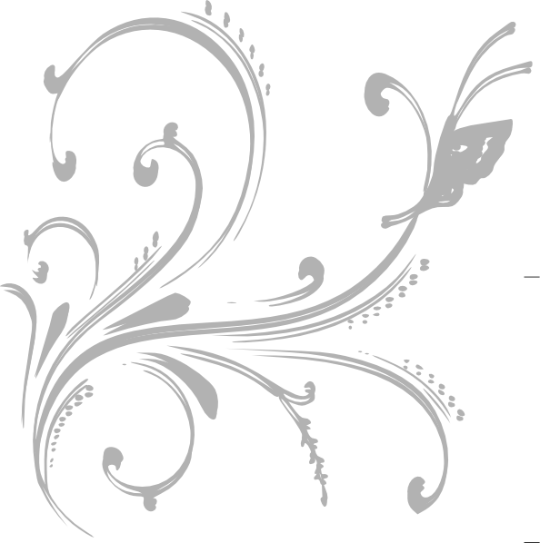 white floral design png