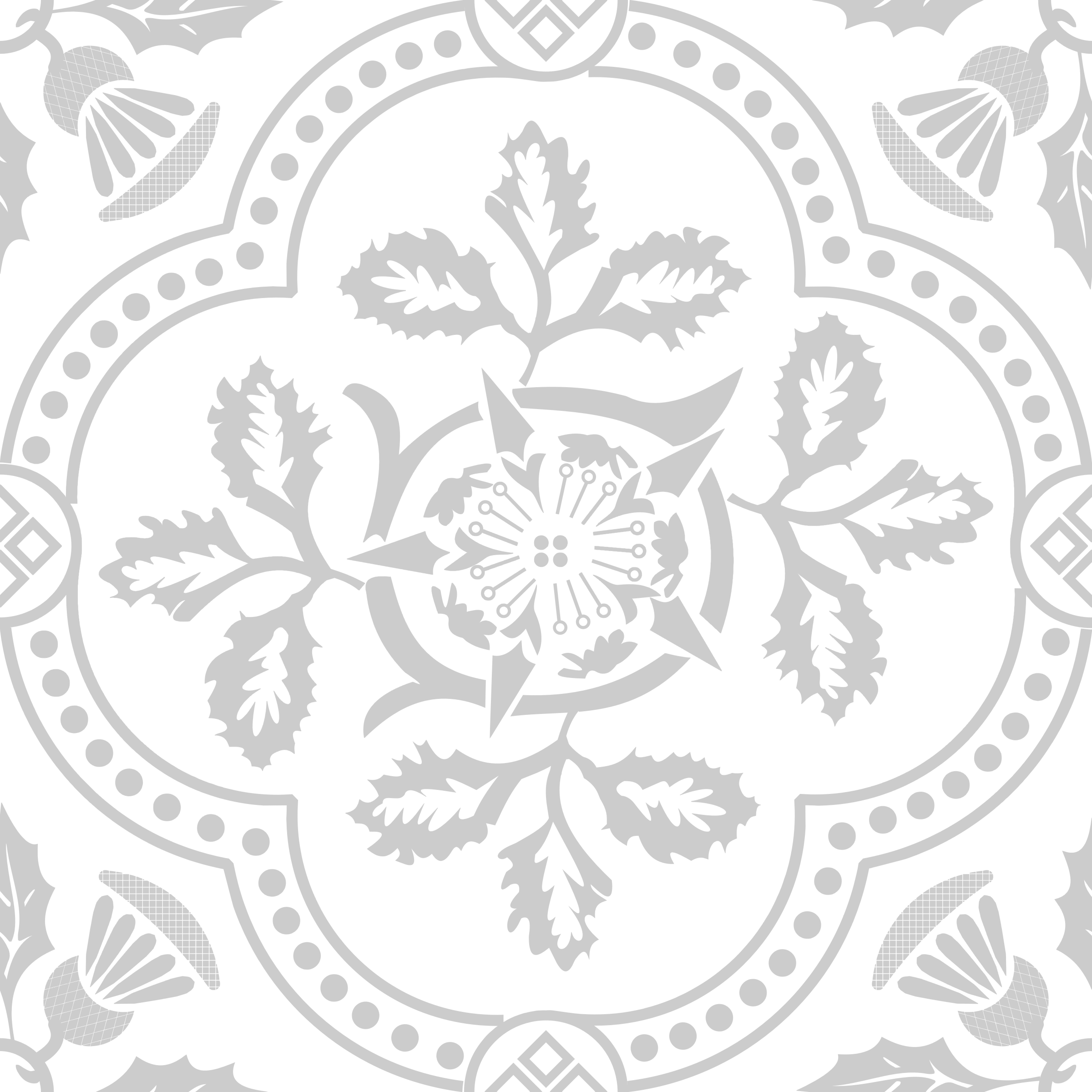 White floral png. Decorative design icons free