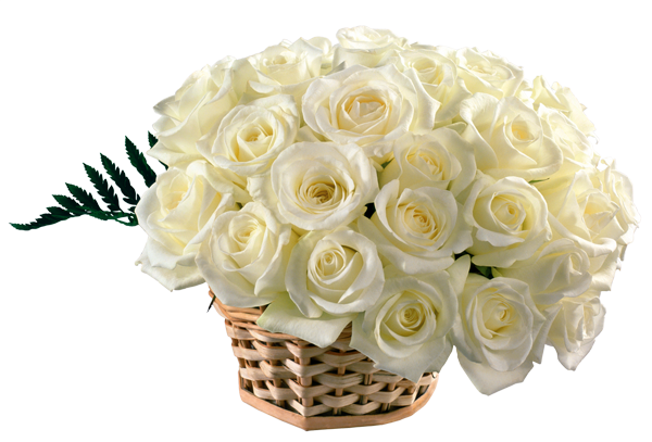White flower bouquet png. Roses basket clipart gallery