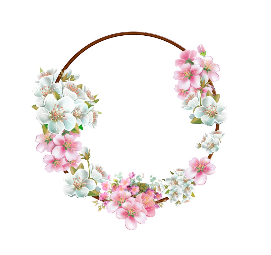 White flower garland png. Frame pic peoplepng com