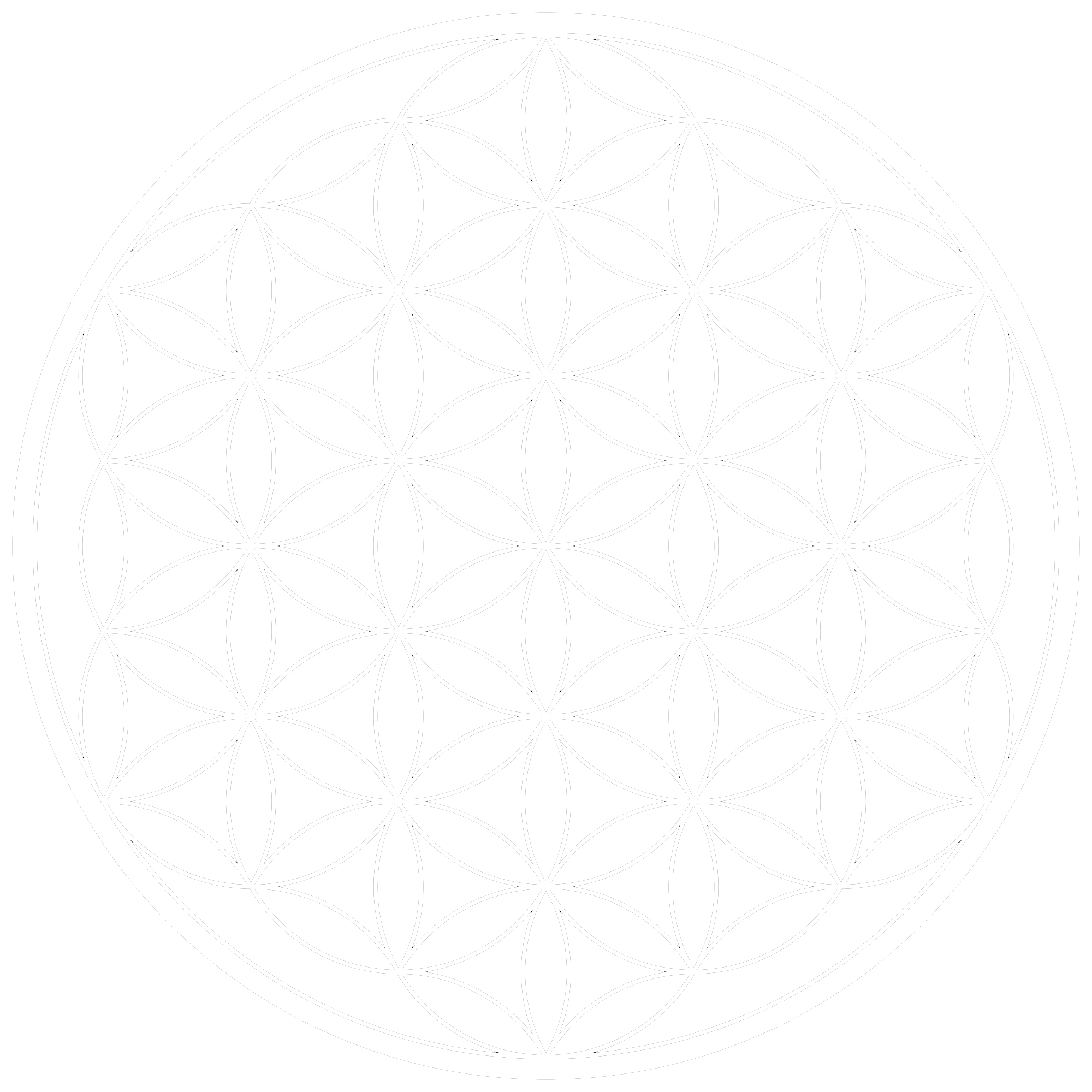 White flower of life png. Touch light theta healing
