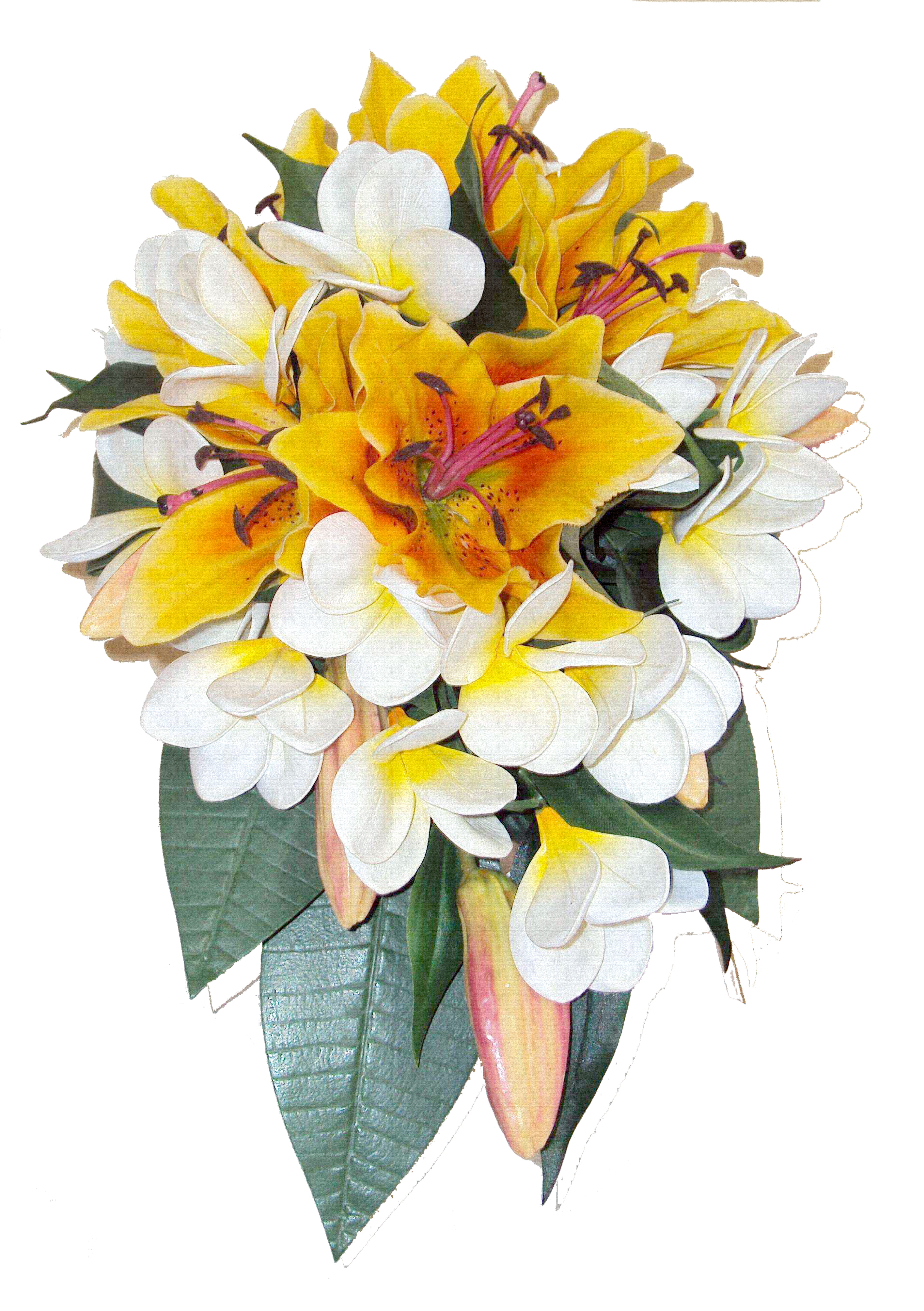 White flowers bouquet png. Wedding photography background material