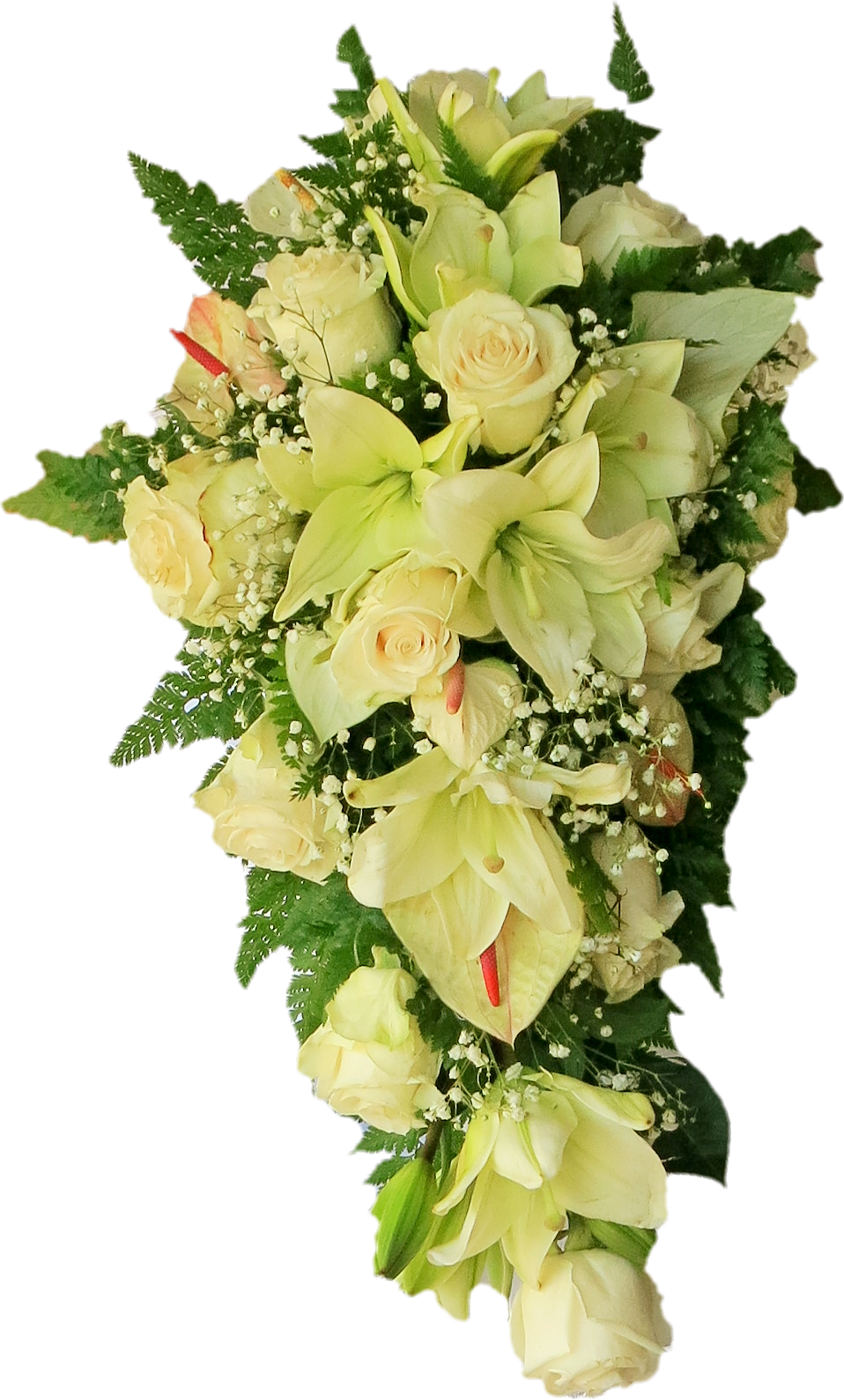 White flowers bouquet png. Hanging