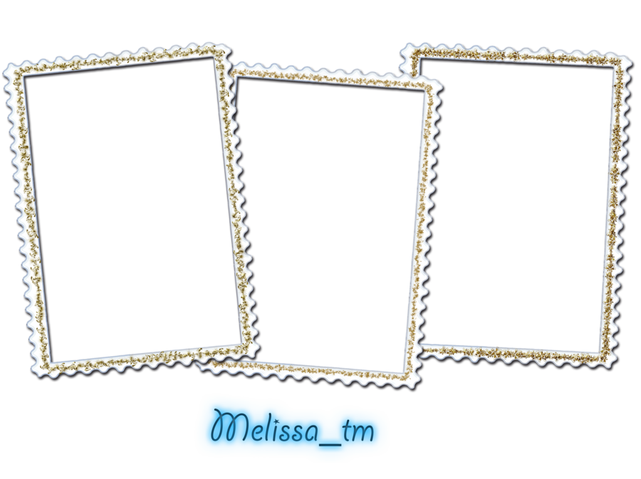 White frames png. Three by melissa tm