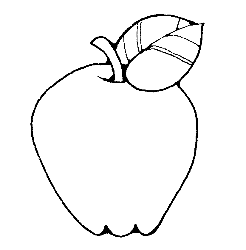 White fruit. Black and clipart free