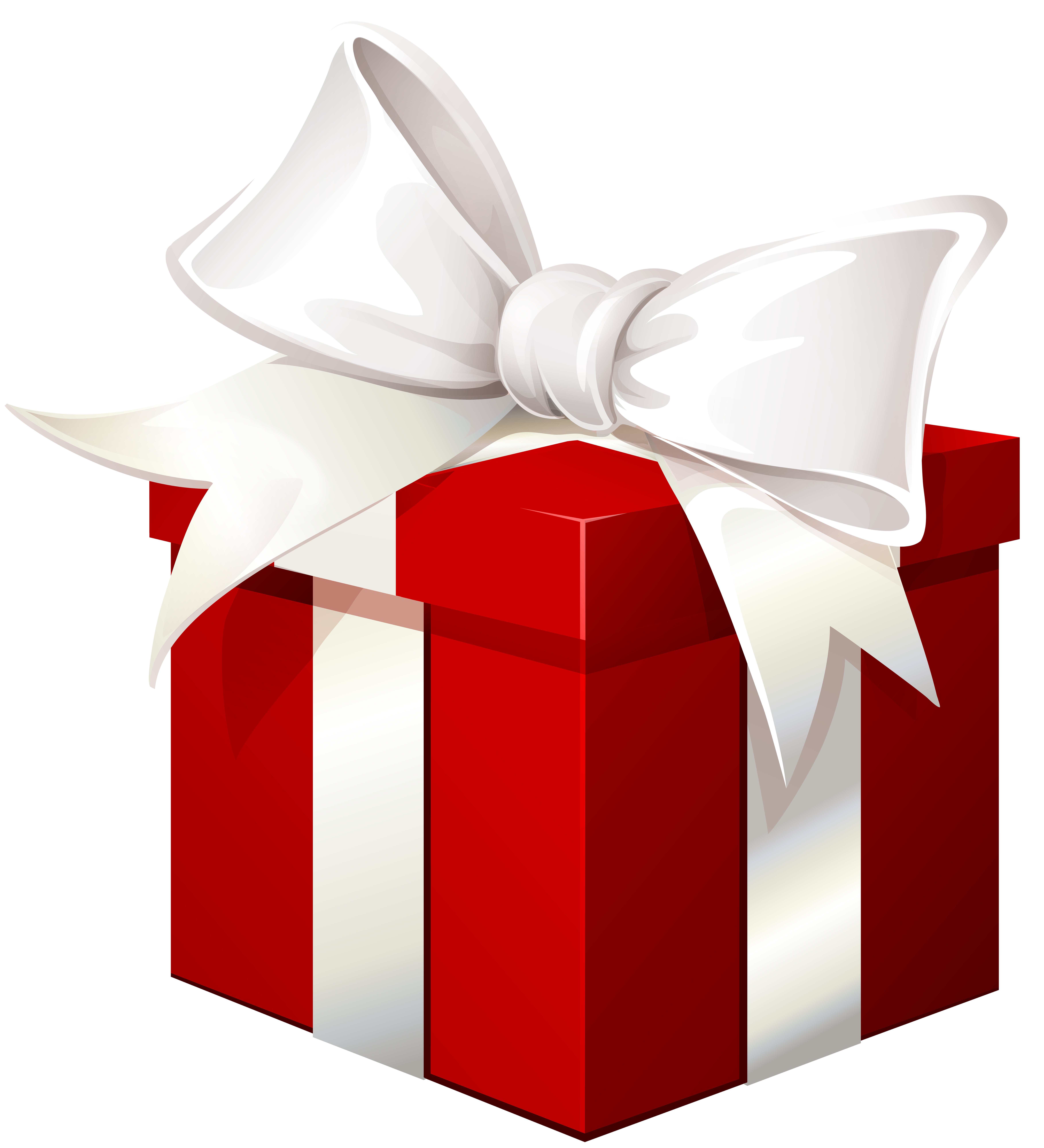 White gift bow png. Red box with transparent