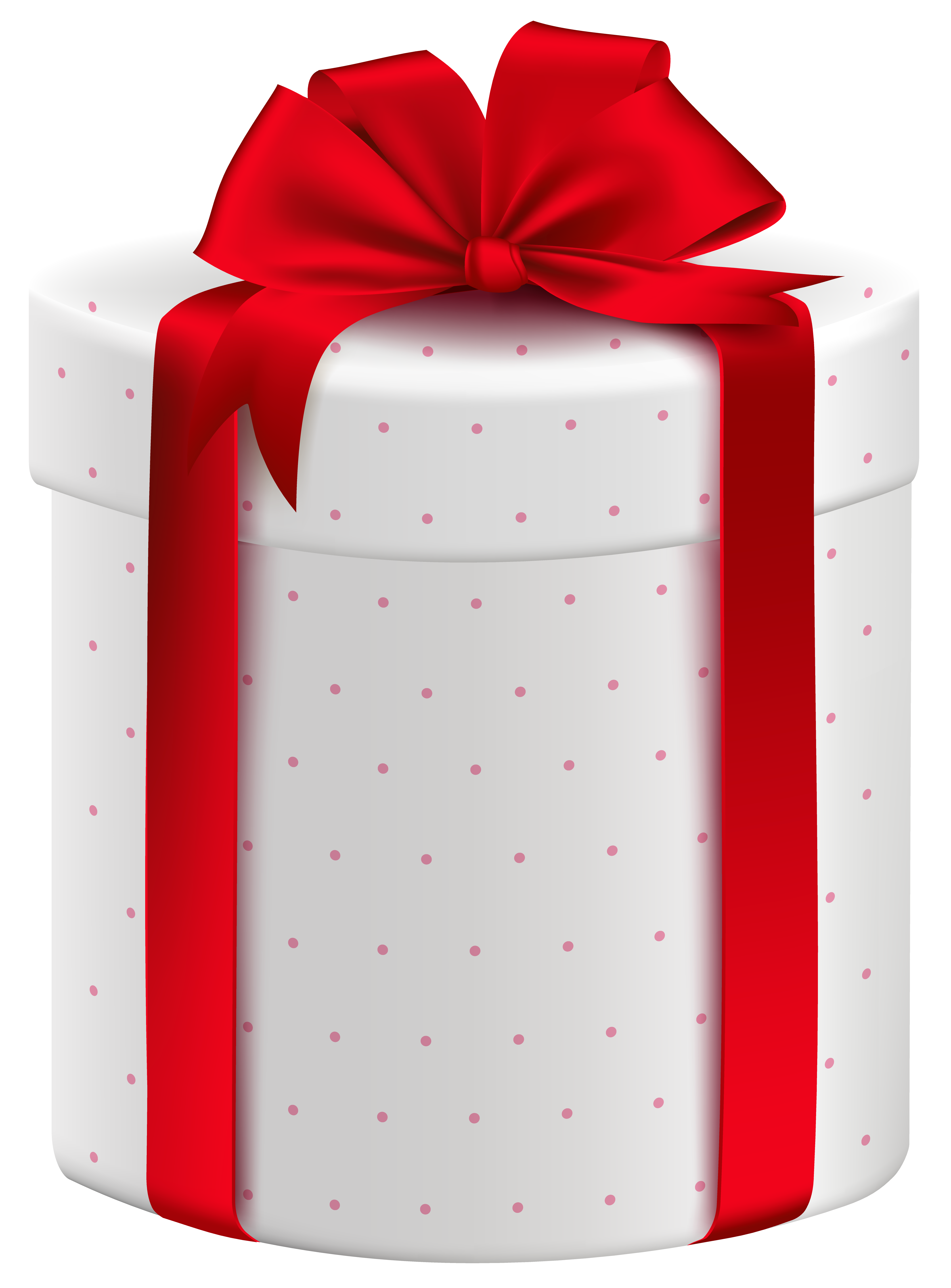 White gift bow png. Box with red clipart