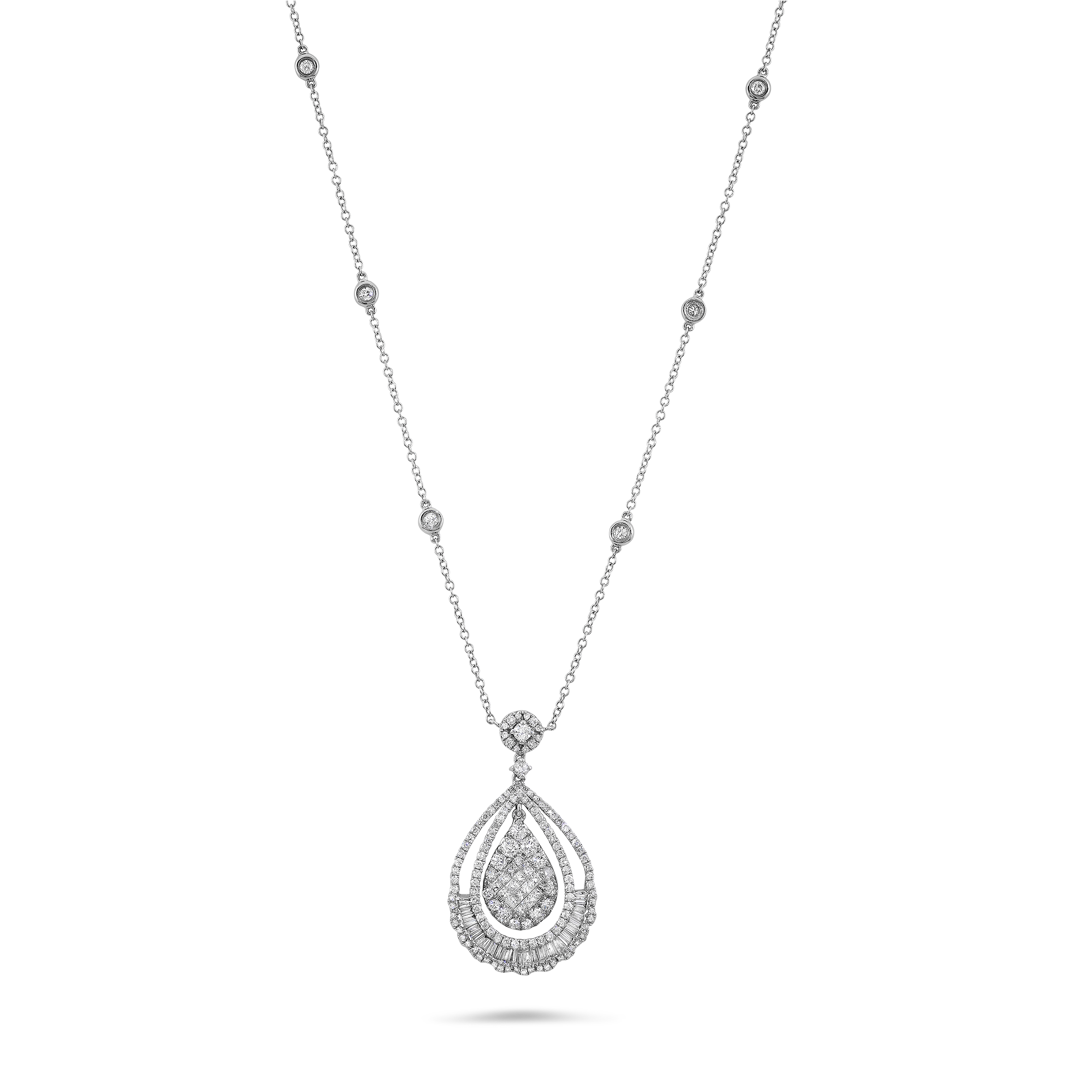 White gold chain png. Pendant necklace photos mart