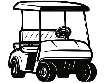 White golf cart. Clipart free download best