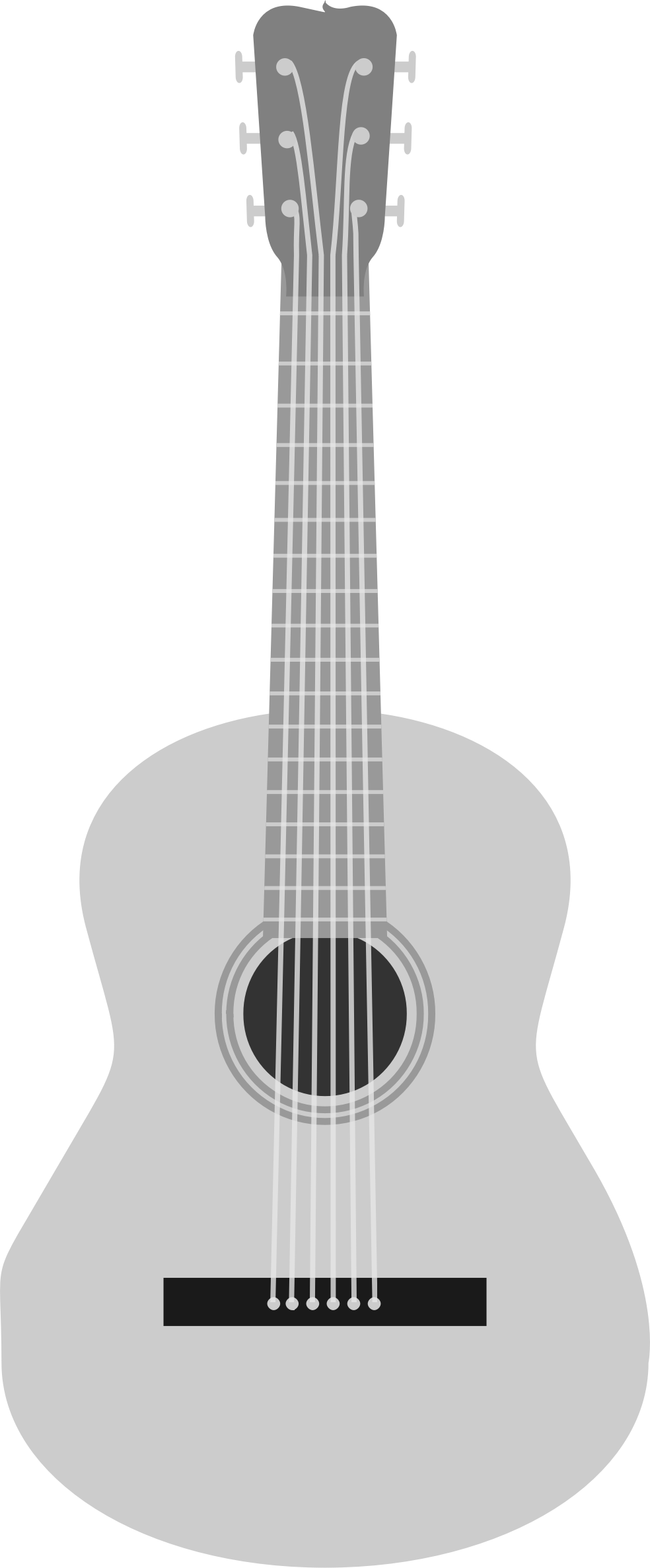 Acoustic Guitar PNG Black And White Transparent Acoustic Guitar