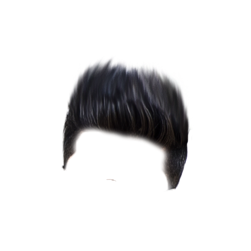 White hair png. Black picture arts