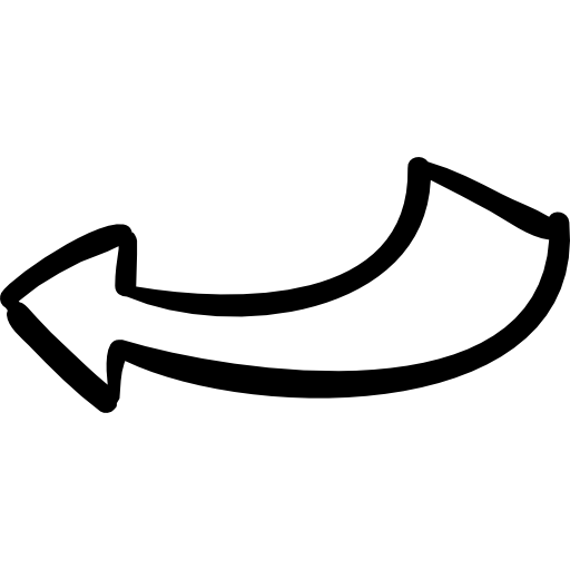 White hand drawn arrow png. Arrows icon page svg