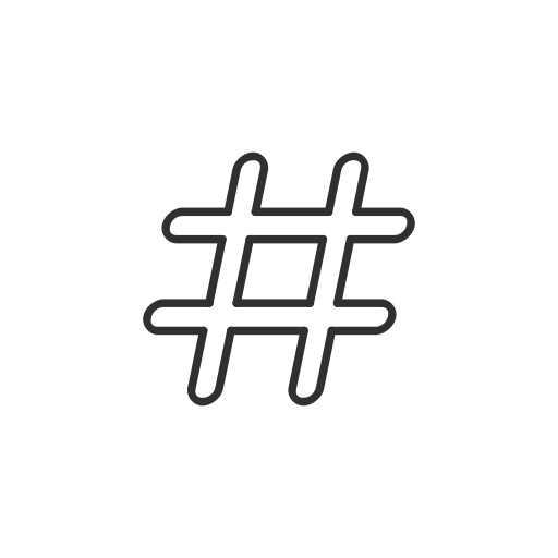 White hashtag png. Twitter post tag icon