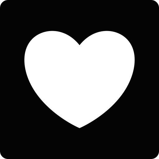 White heart icon png. We it size