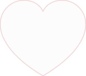 White heart png. Transparent image
