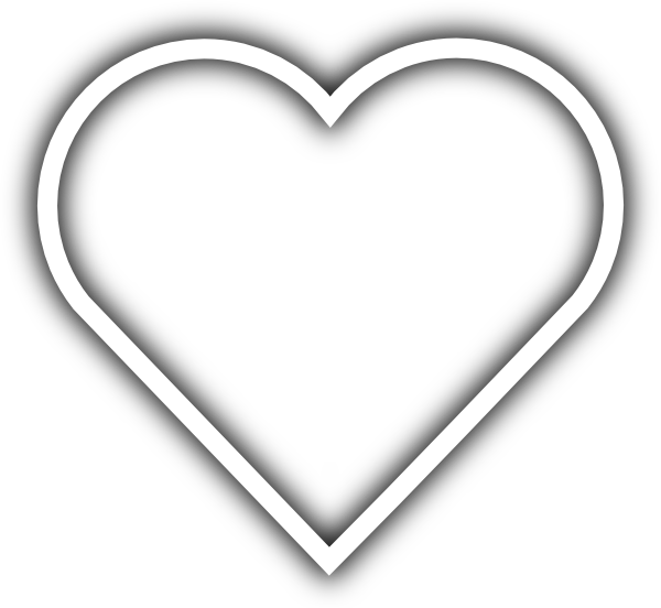 White heart shape png. Simple clip art at