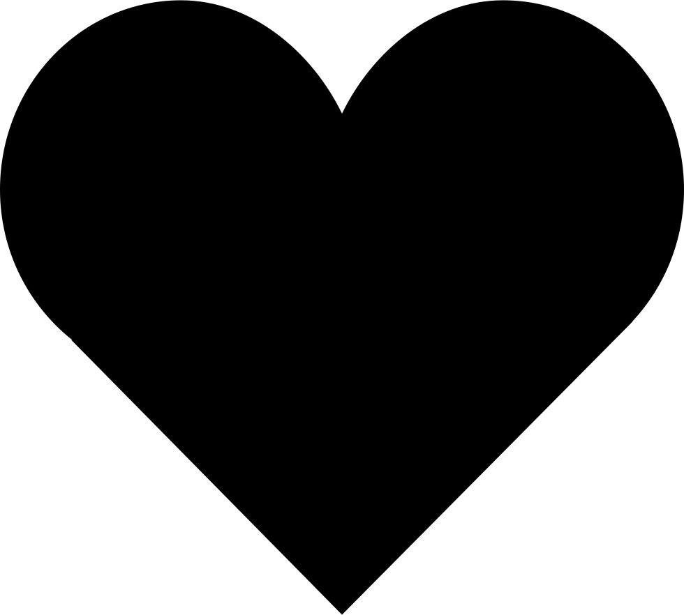 White heart shape png. Loving svg icon free