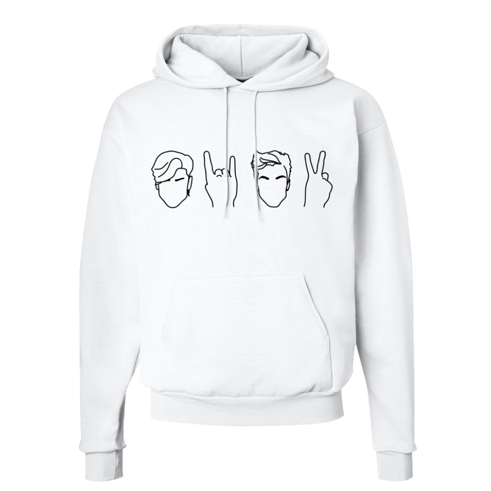 White hoodie png. Twins dolan official merchandise
