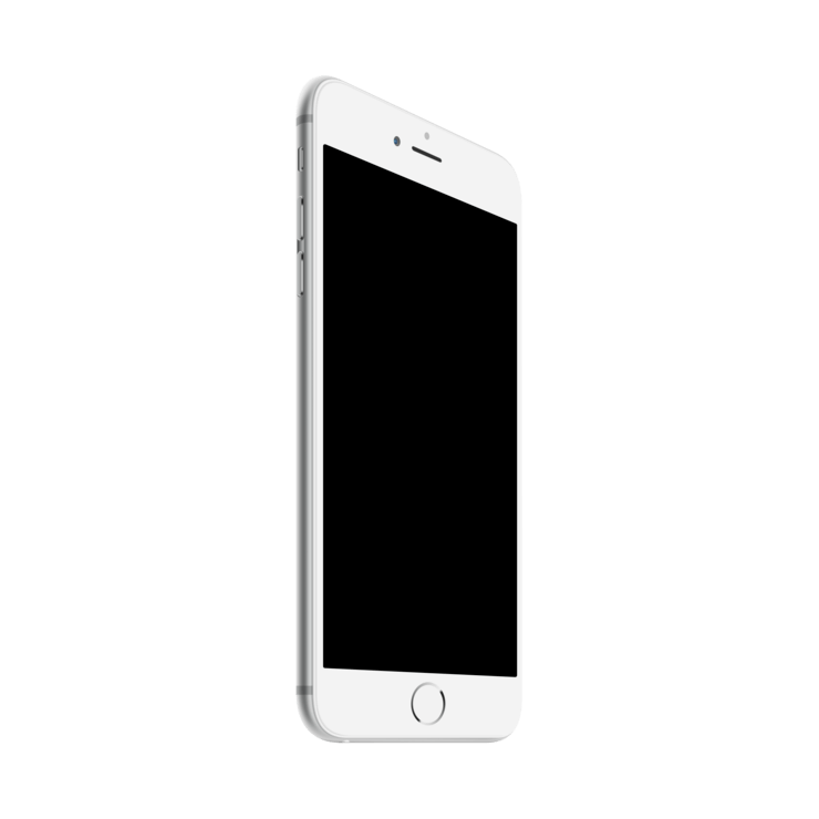 White iphone png. Mockuphone plus template