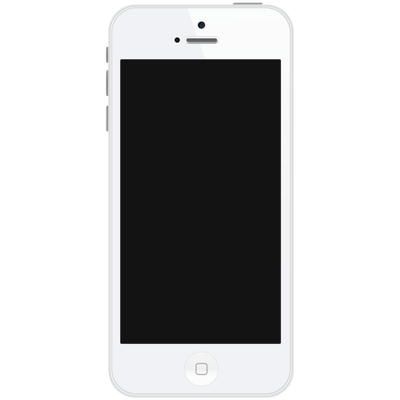 White iphone png. In hand transparent stickpng