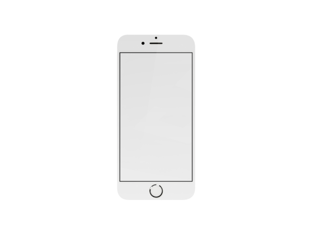 White iphone png. Placeit mockup of portrait