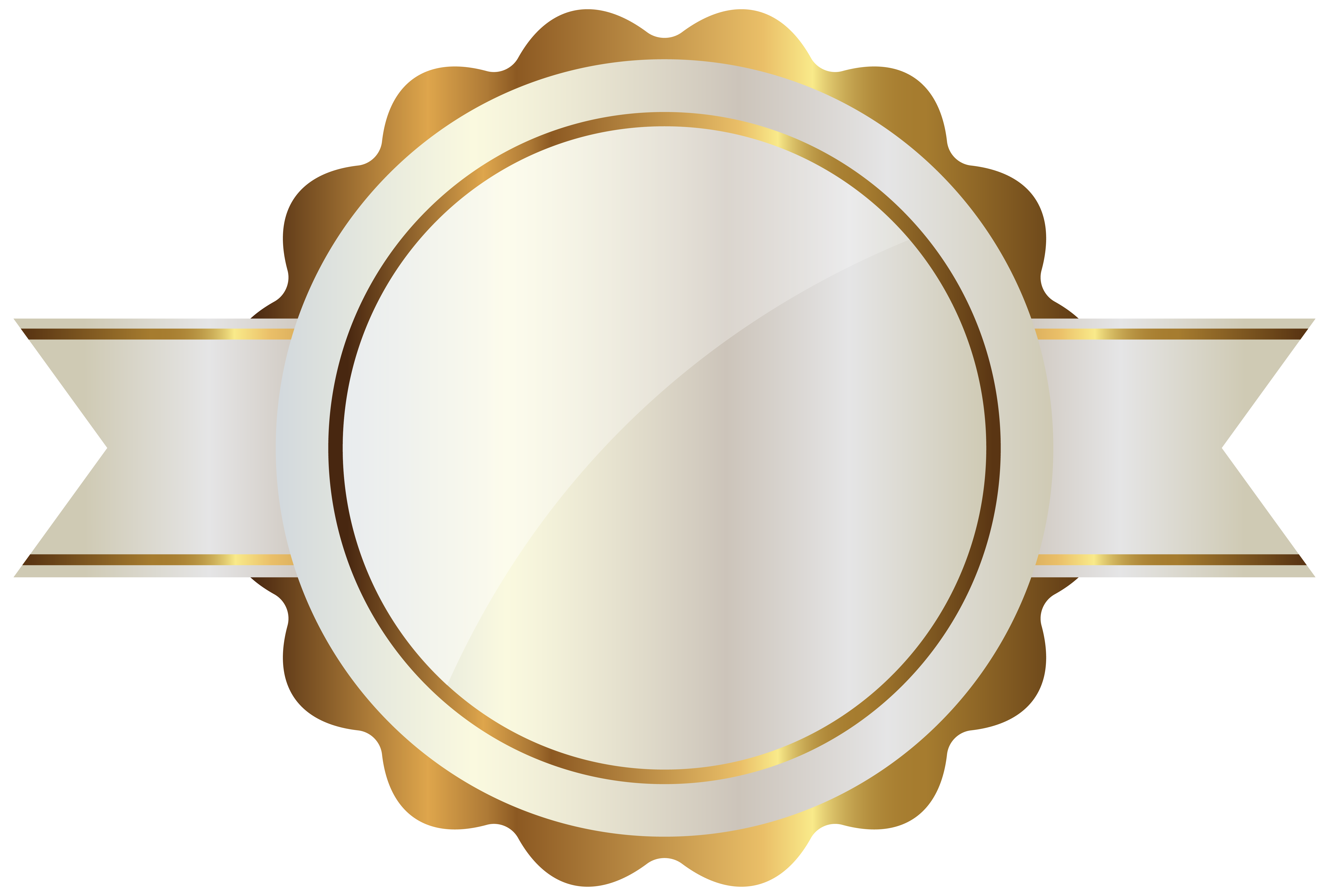 White labels png. Label with gold clipart