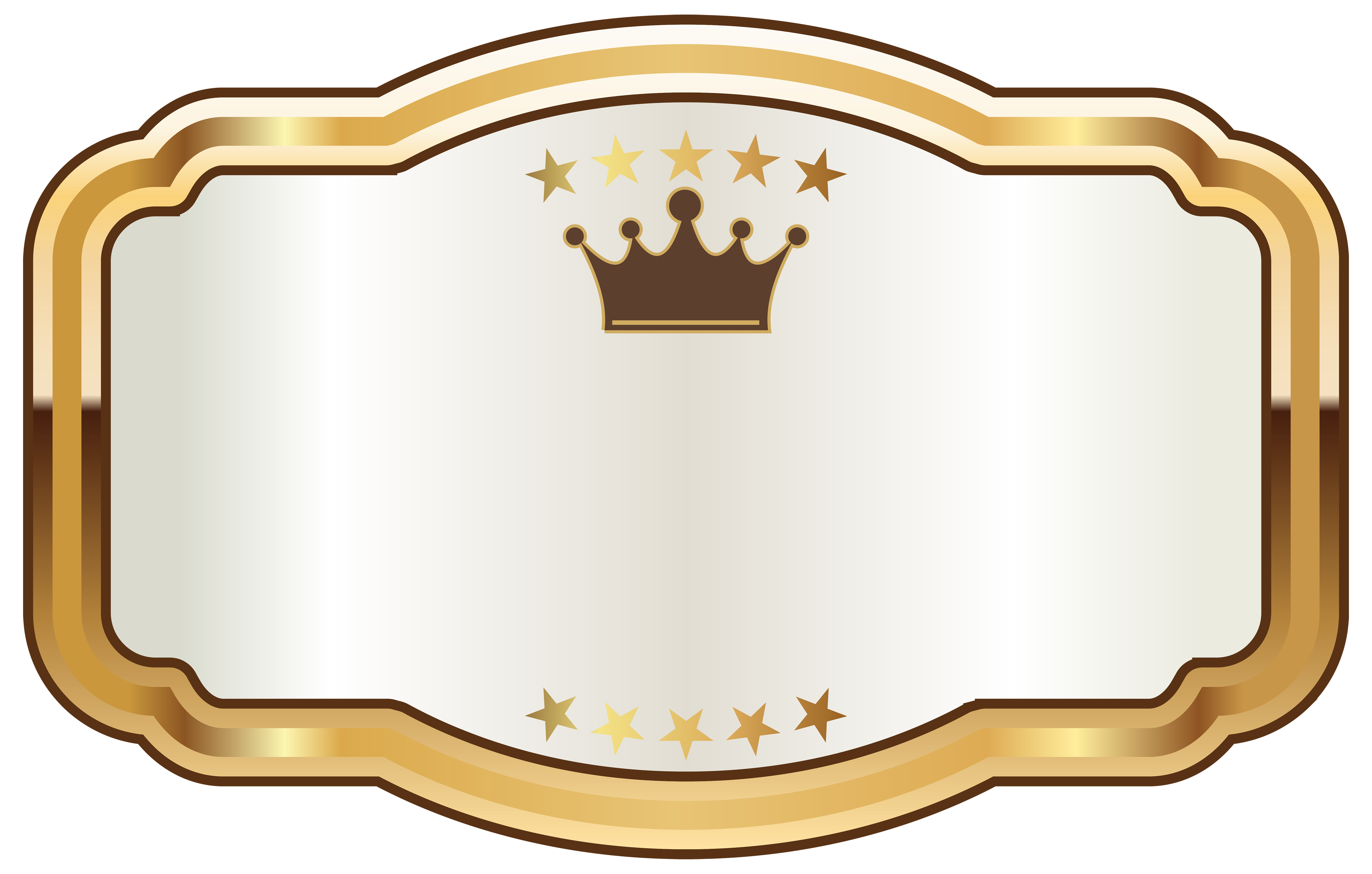White labels png. Label with gold crown