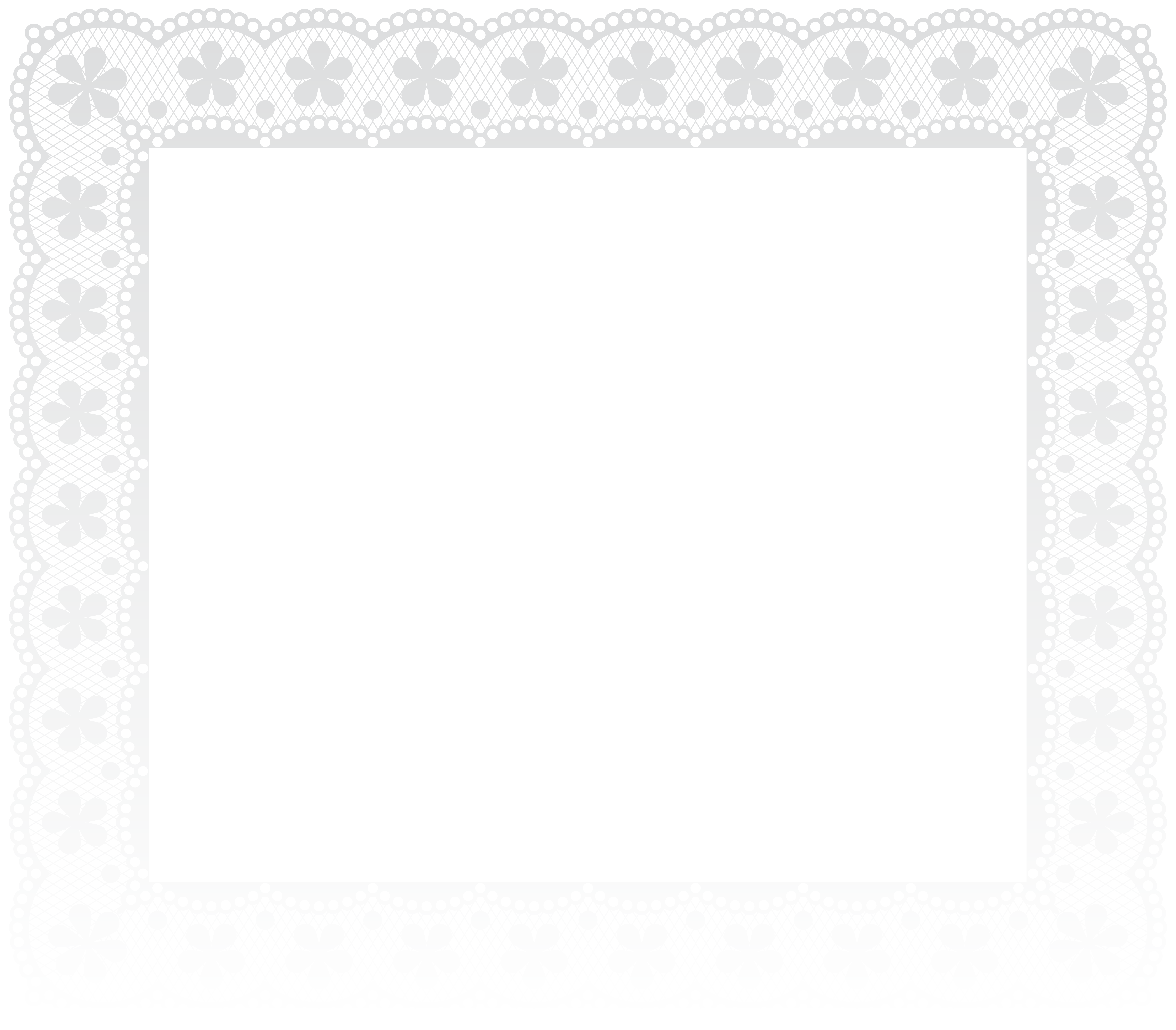 White lace frame png. Border clip art image
