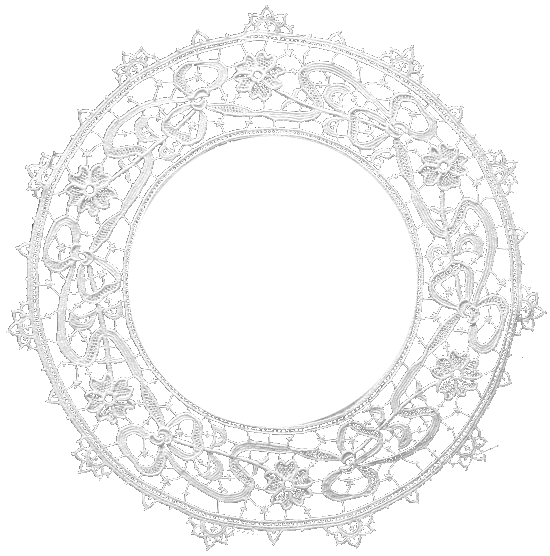 white lace circle png