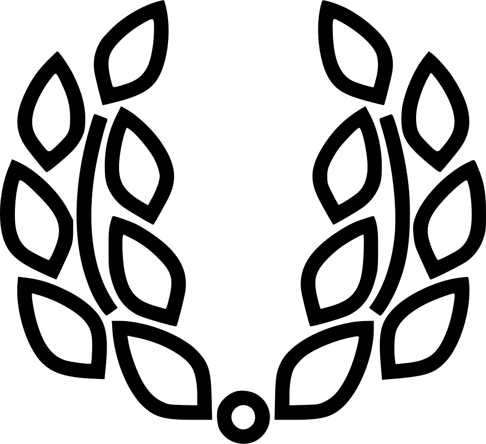 White laurel wreath png. Svg icon free download