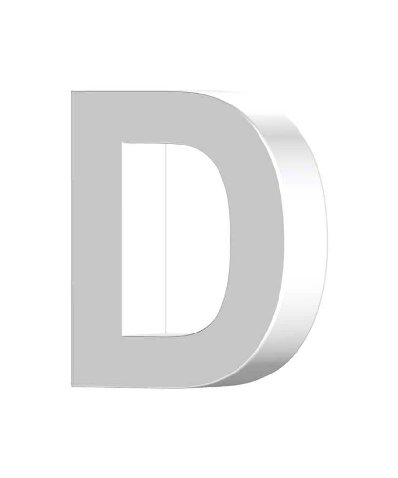 3d letters png. Letter d by billypic